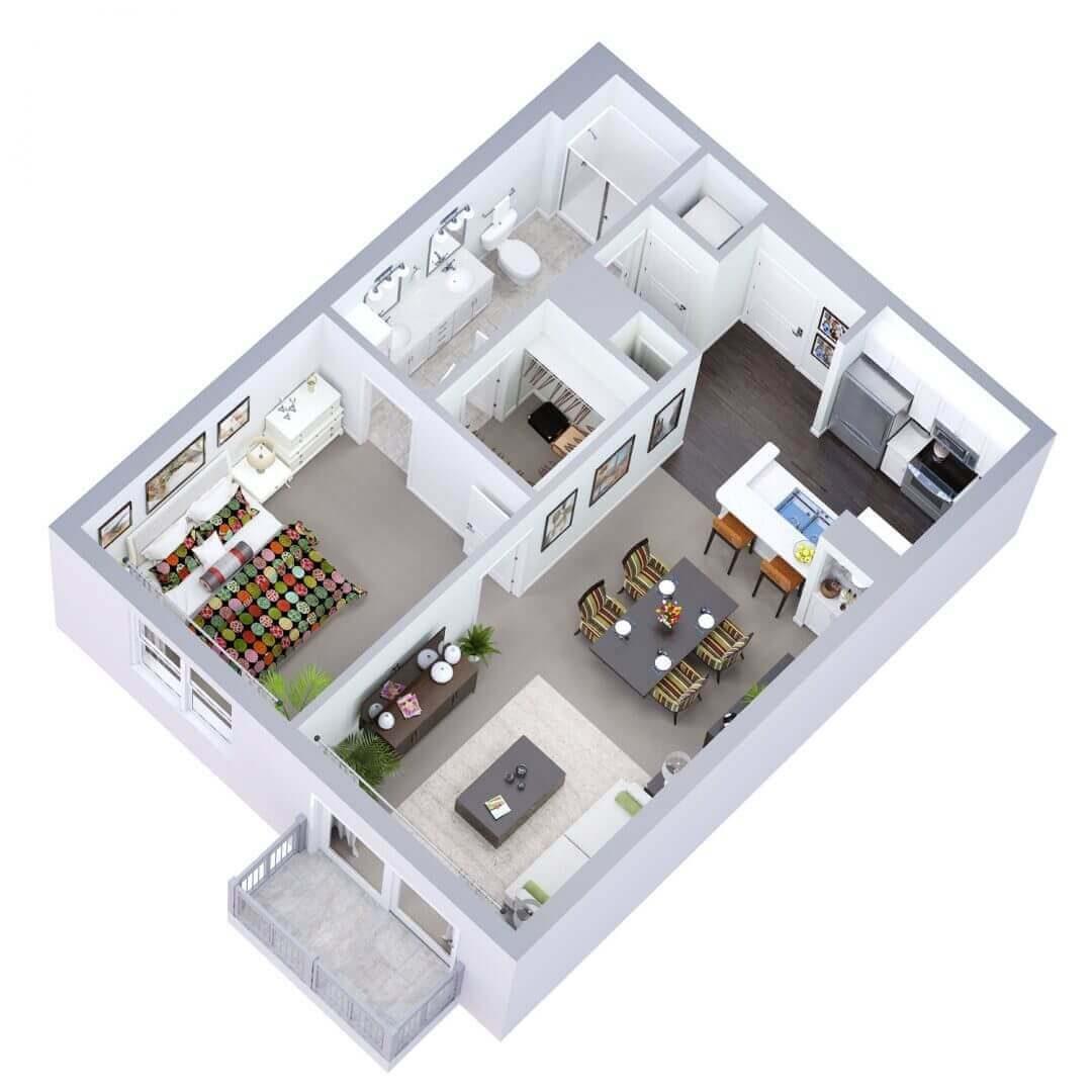 Brighton Floor plan 3D preview