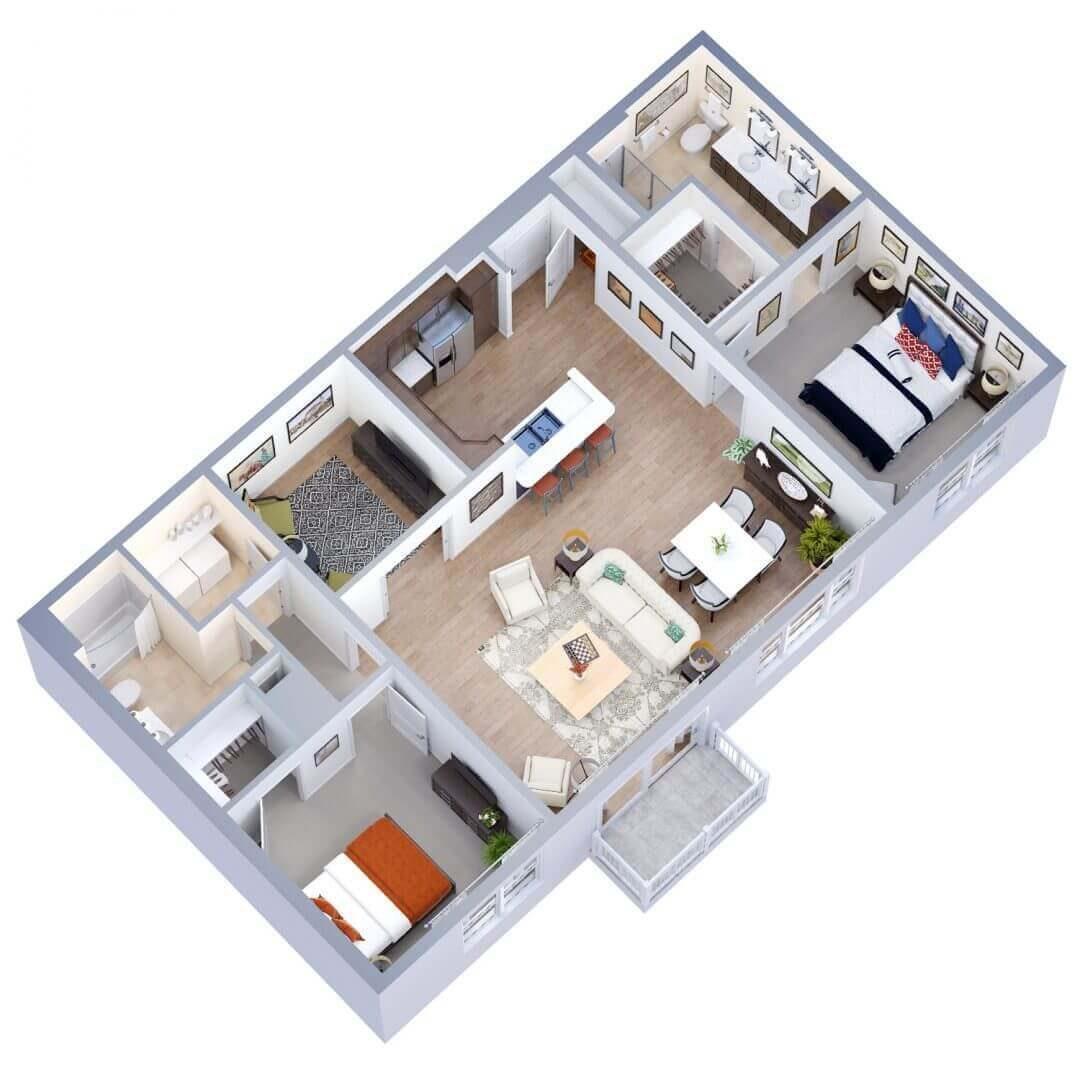 Victoria Floor plan 3D preview