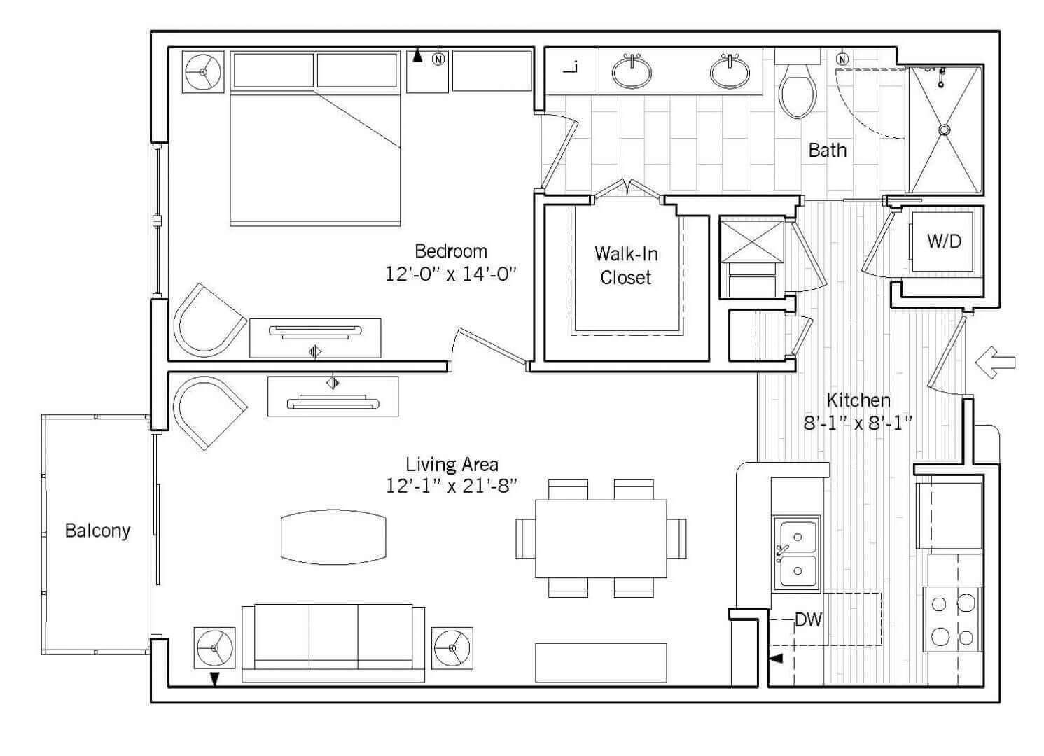Brighton Floor plan 2D preview