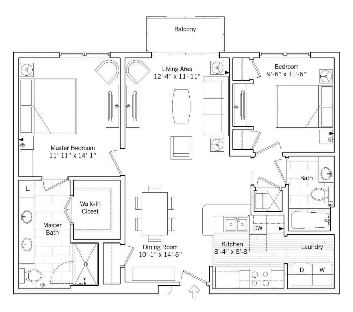 Hawthorn Floor plan 2D preview