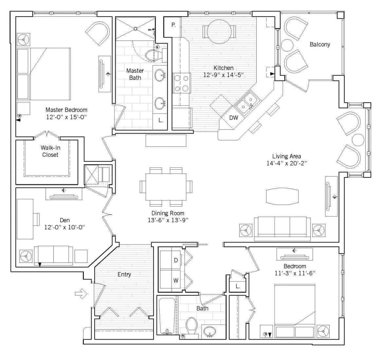 Wilmington Floor plan 2D preview